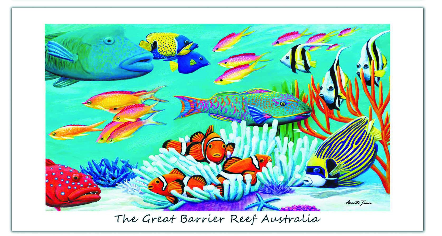The Great Barrier Reef Australia beach towel!-Beach towel-Oz About Oz