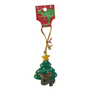 Kangaroo Christmas tree decorations - assorted