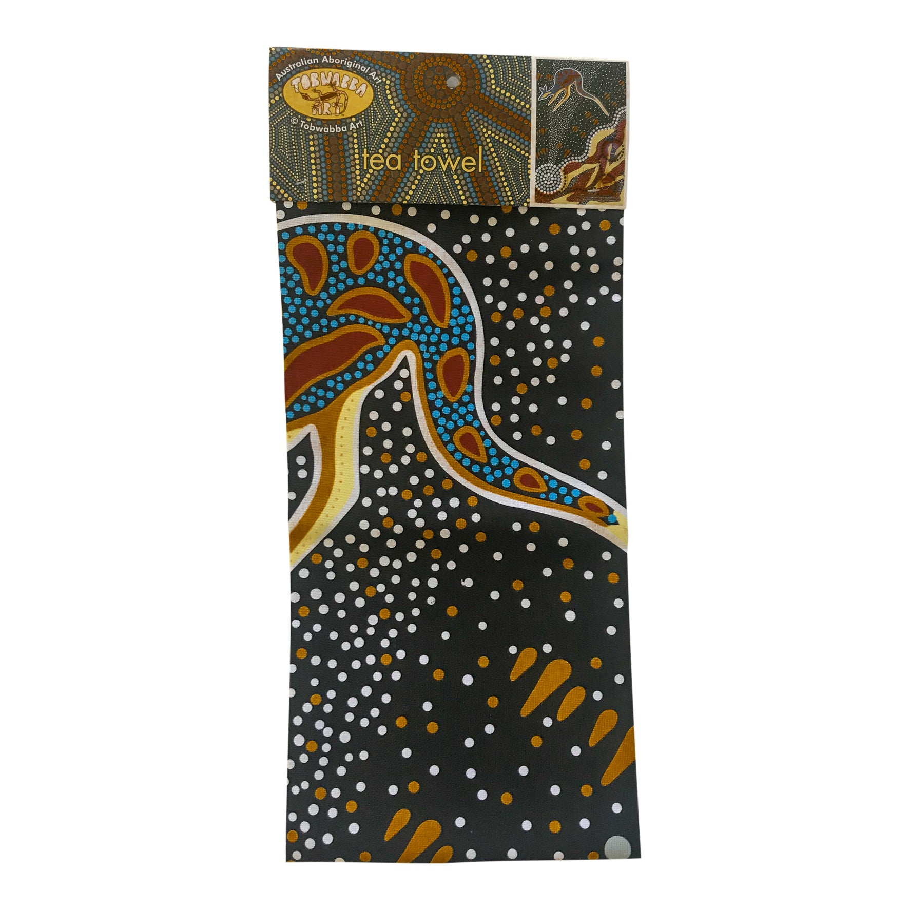 Aboriginal design, coastal Koori tea-towel - Tobwabba Art
