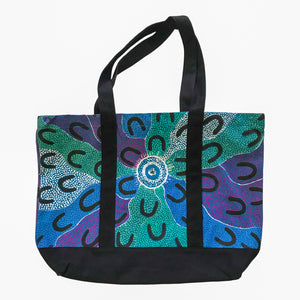 Crow Women Dreaming - blue canvas bag