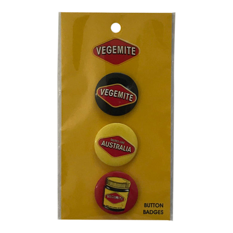 Vegemite badges - set of 3