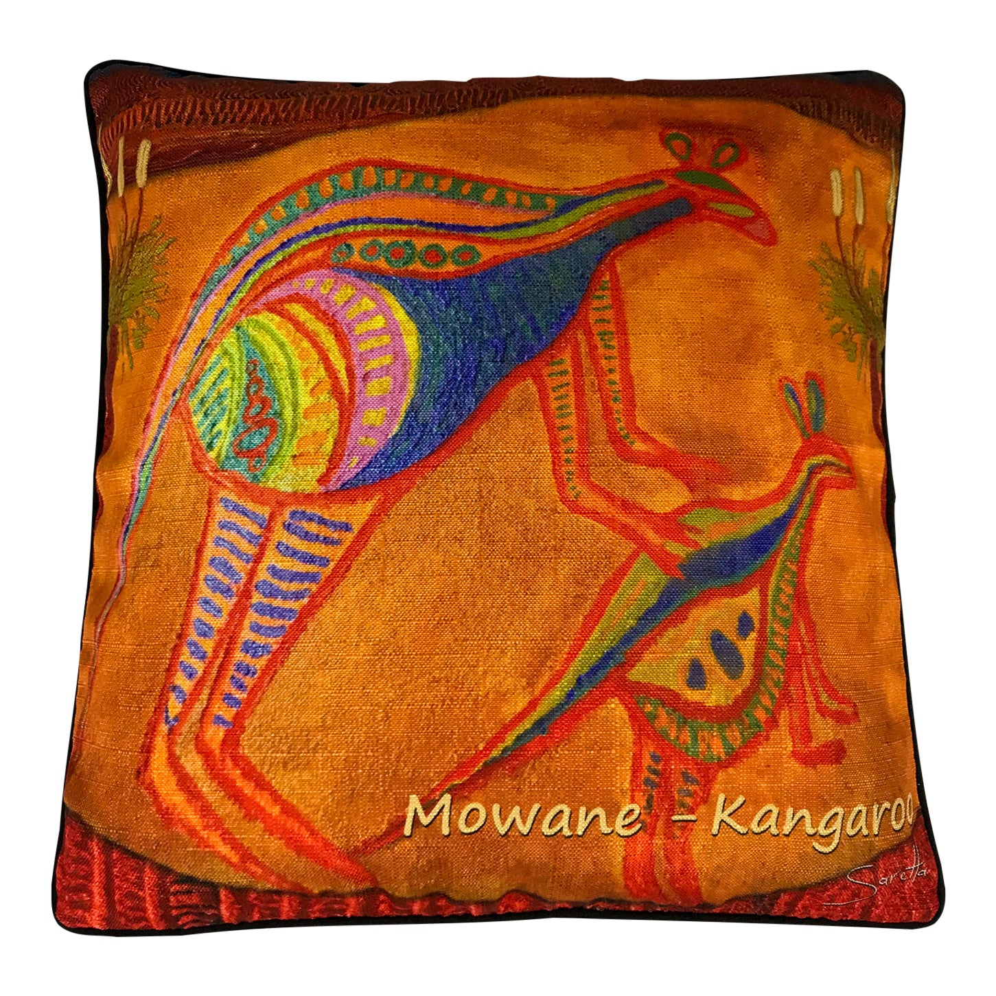 Cushion cover - kangaroo - Saretta Art and Design