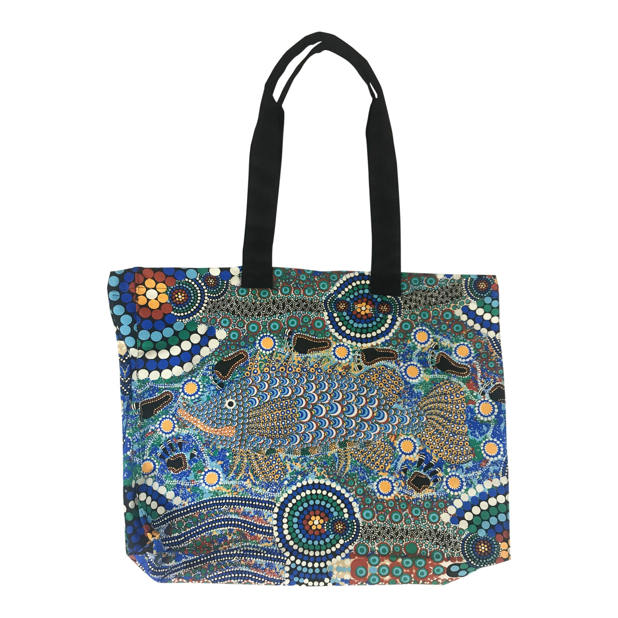 Barramundi blue - canvas bag - Bunabiri