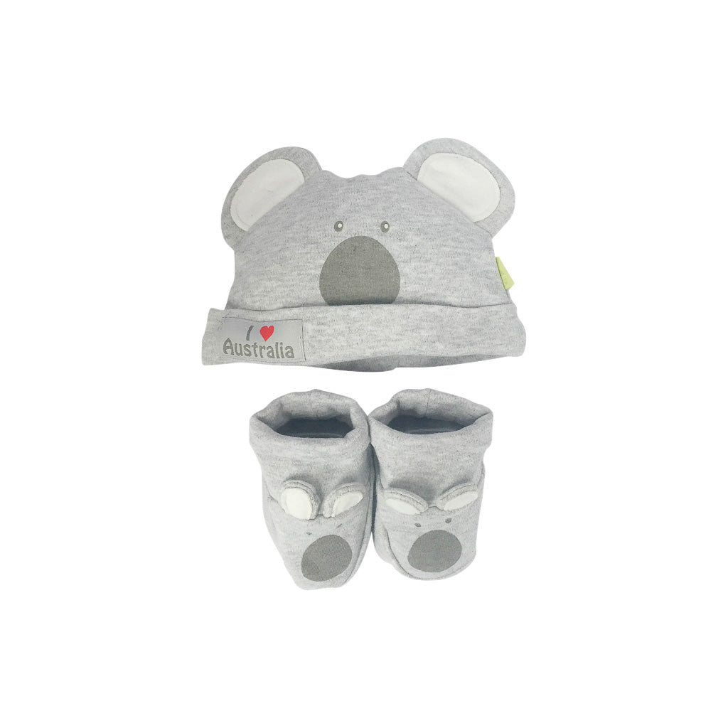 Baby hat and booties set - koala-Baby hat & bootie set-Oz About Oz