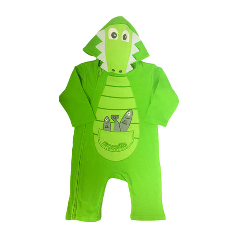 Baby onesie - crocodile with hood-Onesie-Oz About Oz