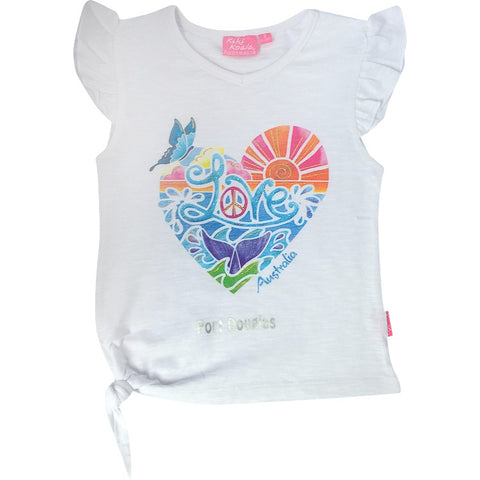 Girls' t shirt | love & peace Port Douglas-Girl's t-shirt-Oz About Oz