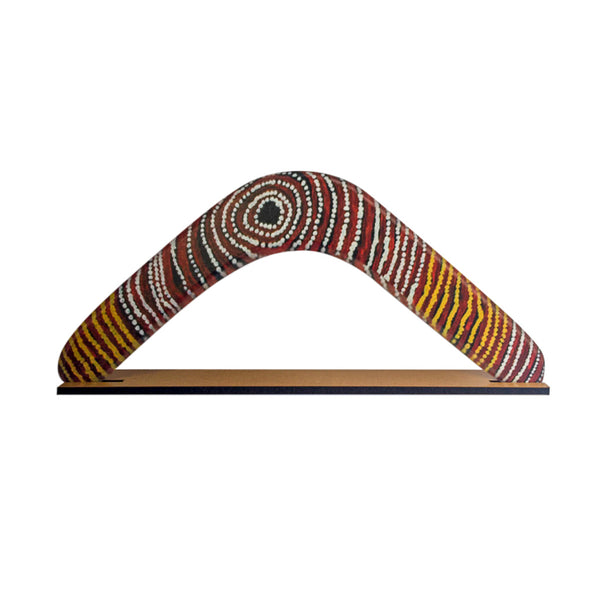 Boomerang - by Aboriginal artist Wentja Morgan Napaltjarri-Boomerangs-Oz About Oz
