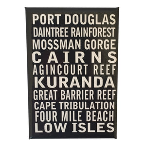 Fridge magnets- Tropical North Queensland destination scroll-Magnets-Oz About Oz