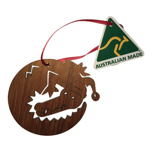 Crocodile wooden christmas tree decoration-Christmas decoration-Oz About Oz