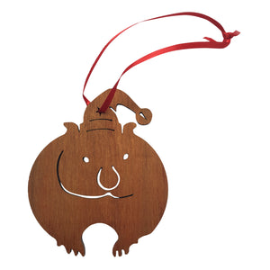 Wombat wooden christmas tree decoration-Christmas decoration-Oz About Oz