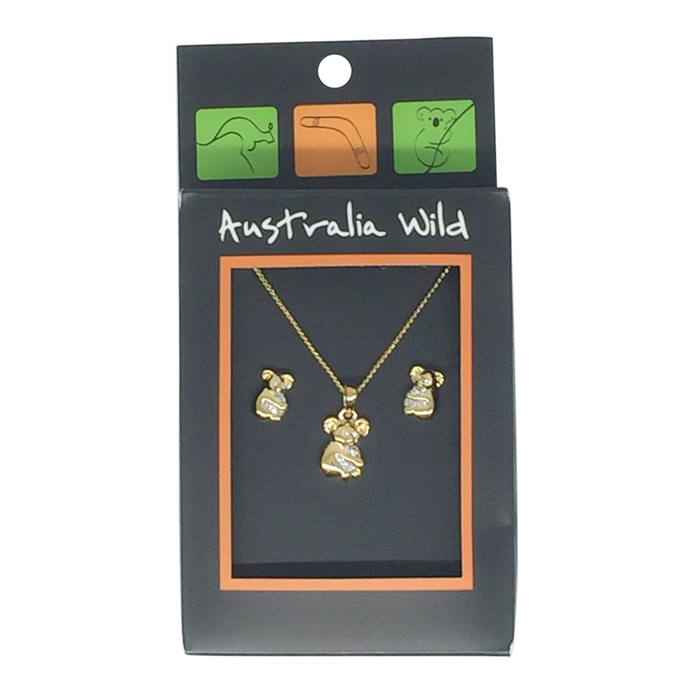 Jewellery - koala studs and necklace set-Jewellery-Oz About Oz