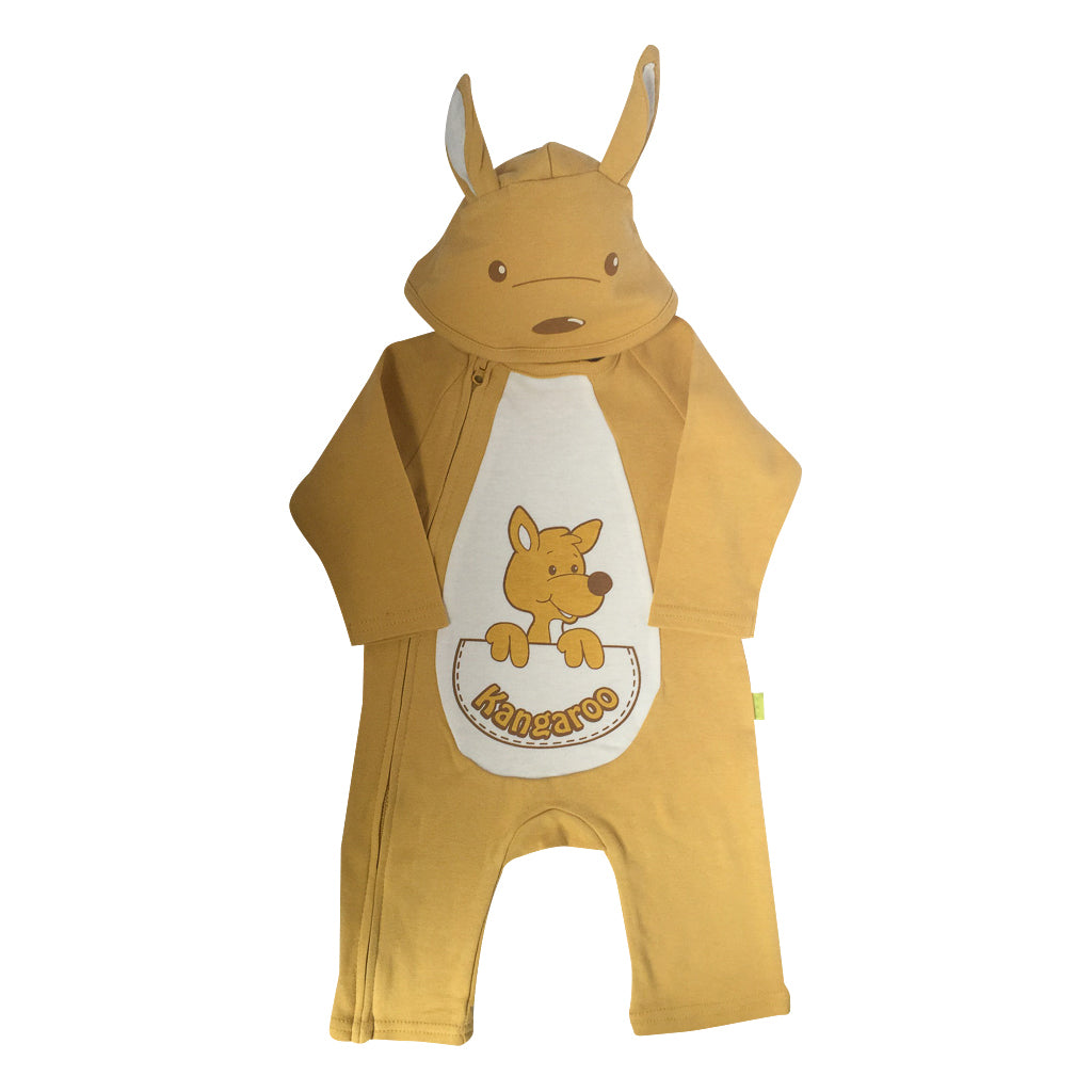 Baby onesie - kangaroo with hood-Onesie-Oz About Oz