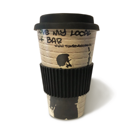 Reusable coffee cup - Bamboo Monkey 3 designs