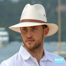 Rigon Hats - Men's Short Brimmed Fedora - Natural (RM259)