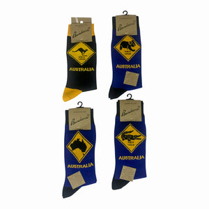Aussie road sign bamboo socks
