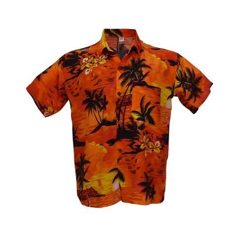 Men's Hawaiian shirt - orange-Hawaiian men's shirt-Oz About Oz