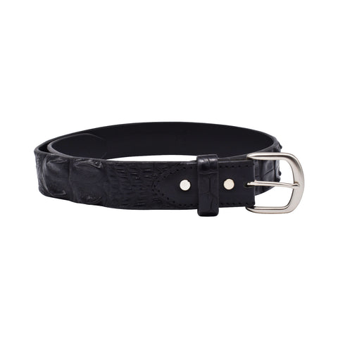 Hornback crocodile leather belt - black or brown-Crocodile leather belt-Oz About Oz