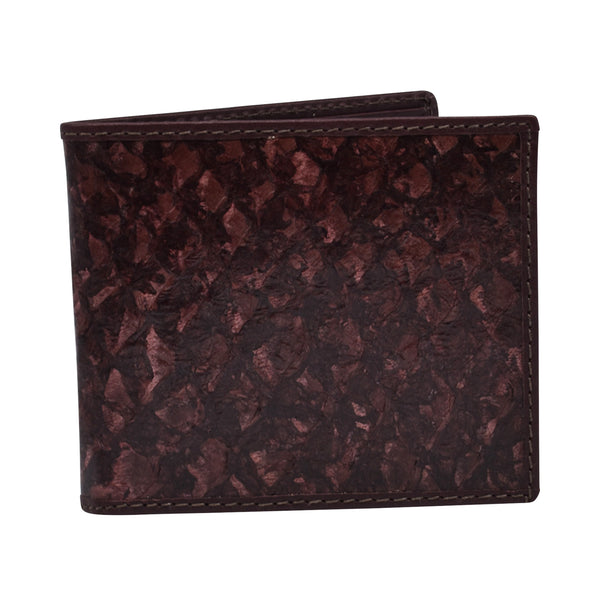 Barramundi leather men's wallet - the classic design-Barramundi and kangaroo leather wallet-Oz About Oz