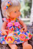 Girt Squad Dress Set to suit 38cm Miniland Doll - Pansy