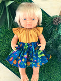 Skirt Set to suit 38cm Miniland Doll - Ellie Whittaker - Crocodalia
