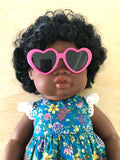 Doll Glasses - Hearts - Hot Pink