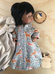 Sleeping Bag on its own, to suit 38cm Miniland Doll - Woodlands