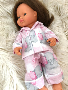 Long Pyjama Set to suit 38cm Miniland Doll - Flannelette - Nelly