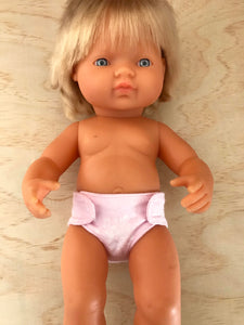 Nappy to suit 38cm Miniland Doll - Dandelion Pink