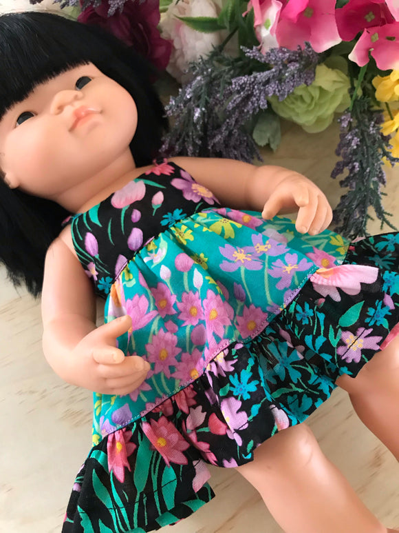 Dress Set to suit 38cm Miniland Doll - Coco and Ginger - Mixed Paris Gypsy