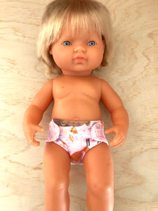 Nappy to suit 38cm Miniland Doll - Sleeping Bear