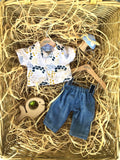 Trousers Set to suit 38cm Miniland doll - Golden Dove Shirt and Jeans