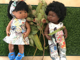 MADE TO ORDER (UP TO 2 WEEK TURN AROUND)  Overalls -  to suit 38cm Miniland Doll -May Gibbs - May Tales