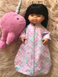 Sleeping Bag on its own, to suit 38cm Miniland Doll - Mermaid