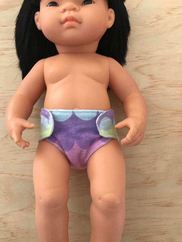 Nappy to suit 38cm Miniland Doll - Rainbow Scales