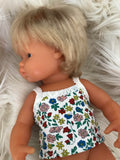 Singlet to suit 38cm Miniland Doll - Ditsy Spring