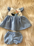 MADE TO ORDER (2 WEEKS) Dress Set to suit 38cm Miniland Doll - Bluey - On Dad