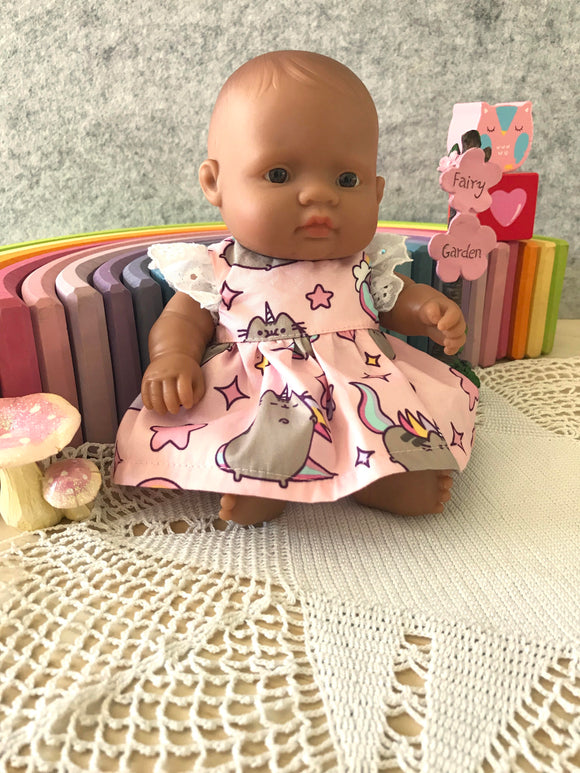 Stephanie Dress Set to suit 21cm Miniland Doll - Pusheen - Unicorn
