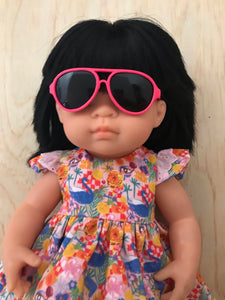 Doll Glasses - Aviators - Hot Pink