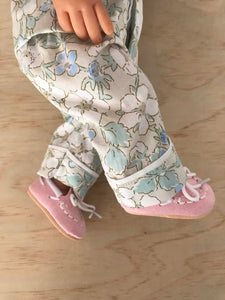 Moccasin Shoes to suit 38cm Miniland Doll - Pale Pink