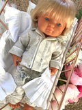 Long Pyjama Set to suit 38cm Miniland Doll - Ivy and Aida - Daisy