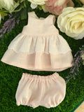 Shorts Set to suit 38cm Miniland Doll - Lavender Dream Blouse and Lavender stripe shorts.