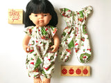 Jumpsuit to suit 38cm Miniland Doll - Kewpie Christmas