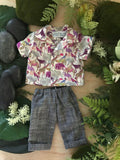 Trousers Set to suit 38cm Miniland doll - Liberty London - Zoo