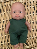 MADE TO ORDER (UP 2 WEEKS) Edith Dress Set to suit Dinkum Doll - May Gibbs - Midnight Flannel Flower Babies