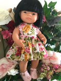 Dress Set to suit 38cm Miniland Doll - Happy Pink Spring