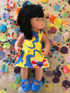 Dress Set - PINNY -  to suit 38cm Miniland Doll - Ellie Whittaker - Clowns