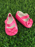 Mary Jane Shoes to suit 38cm Miniland Doll - Hot Pink