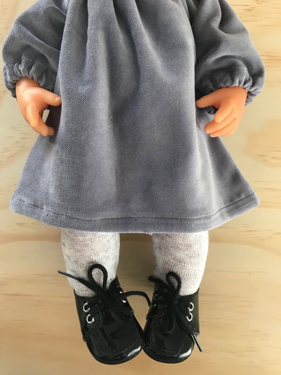 Ankle Booties Shoes to suit 38cm Miniland Doll - Black