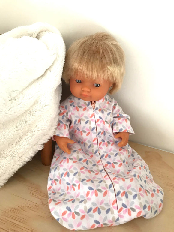 Sleeping Bag on its own, to suit 38cm Miniland Doll - Daisy Pinwheels
