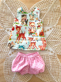 3 Piece Dress Set - PINNY -  to suit 38cm Miniland Doll - Anne of Green Gables